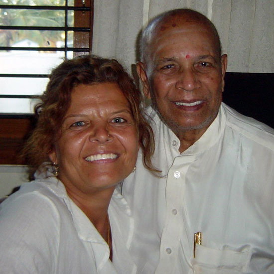 Maria Boox and Pattabhi Jois