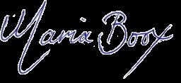 Maria Boox' signature