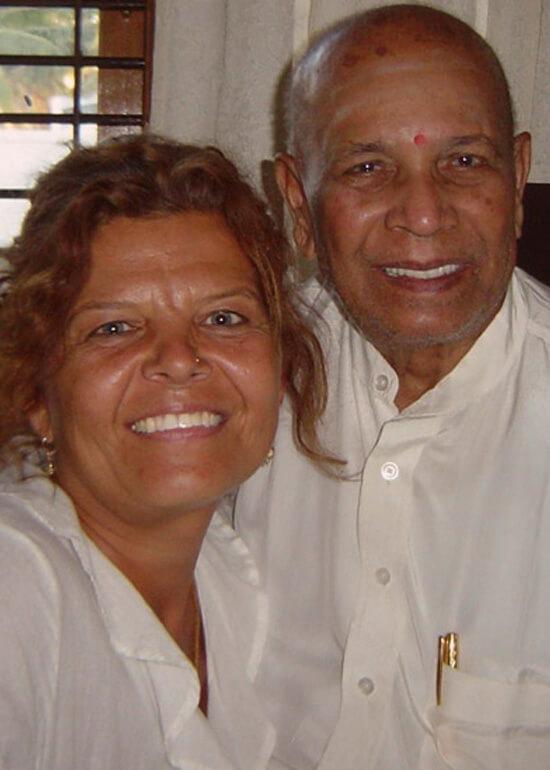 Maria Boox med Pattabhi Jois