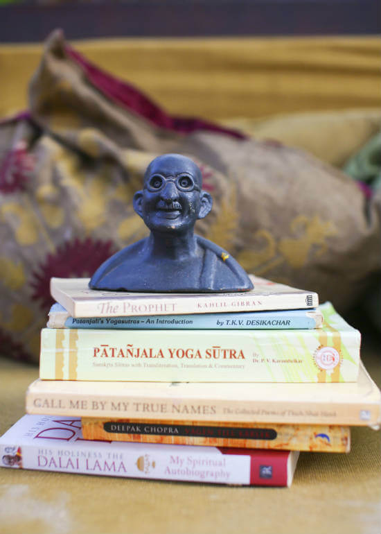 Maria's yoga philosophy books