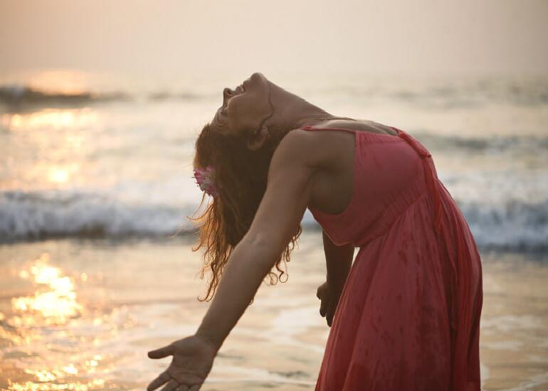 Maria på stranden
